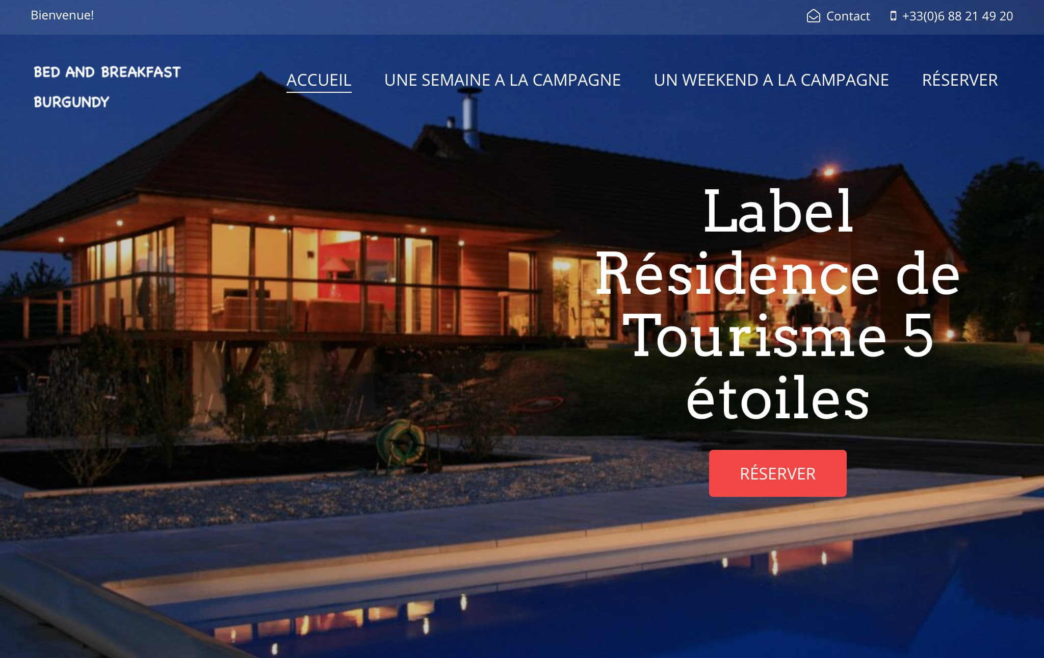Bed and breakfast burgundy